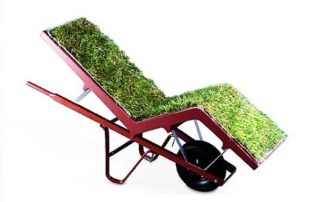 зелена ръчна количка